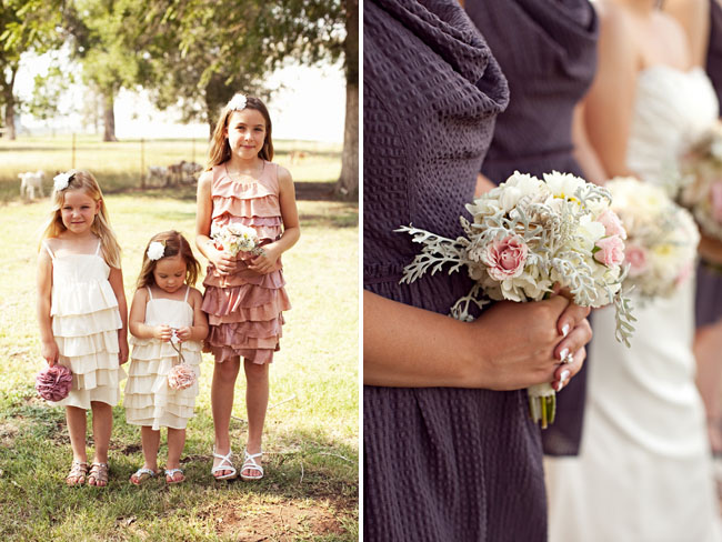 flower girls in ruffle dresses
