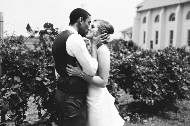 kiss after the wedding