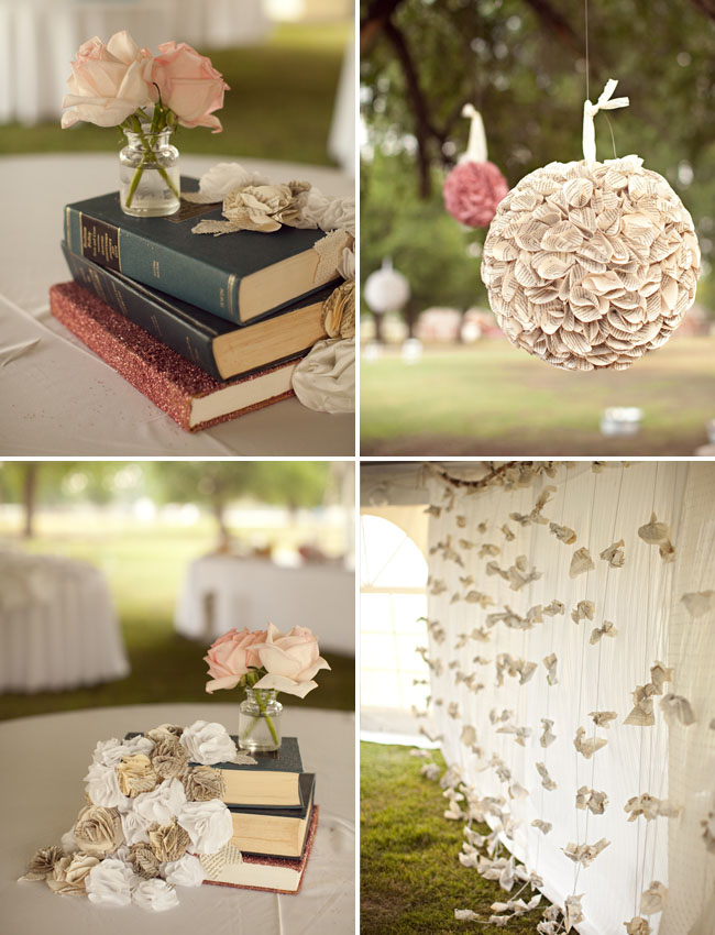Oklahoma diy wedding for book lovers wedding with book details junglespirit Gallery