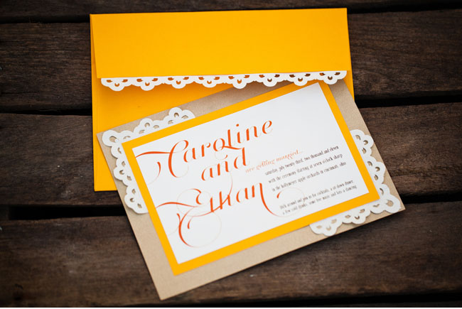 lace applique invitation