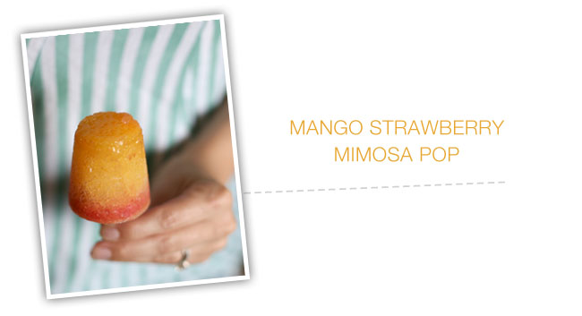 mango strawberry mimosa popsicle