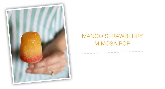 mango strawberry mimosa popsicle