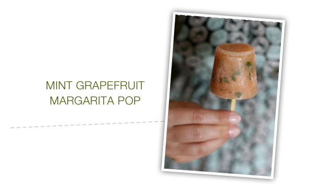 mint grapefruit margarita popsicle