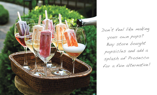 popsicles in champagne