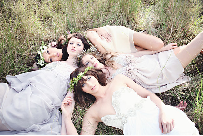 bohemian bridemaids
