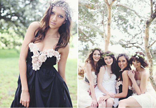 black bridemaids dress