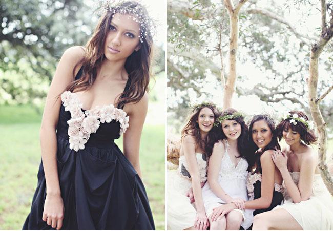black bridemaids dress