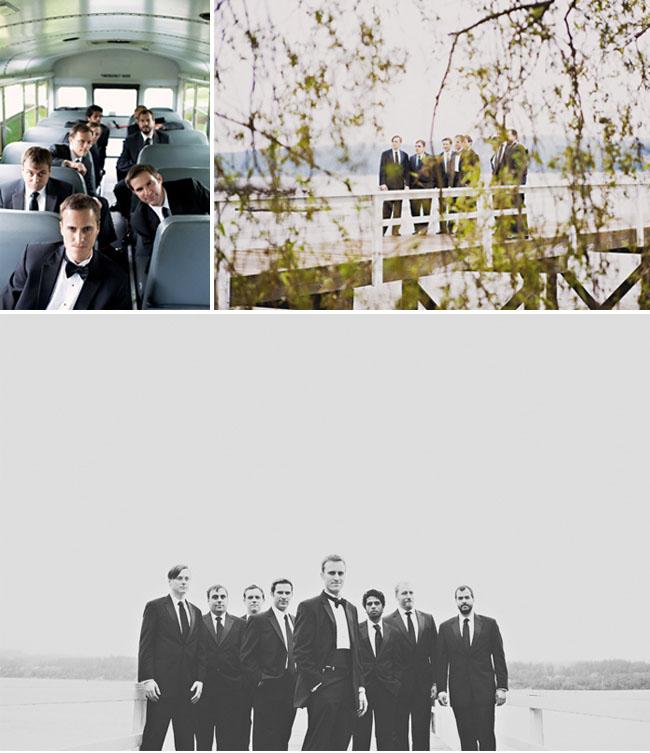 groomsmen in tuxs