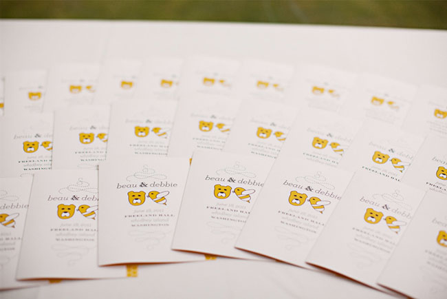 bumblebee wedding invites