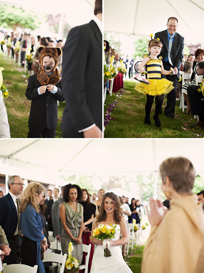 bumble bee flower girl