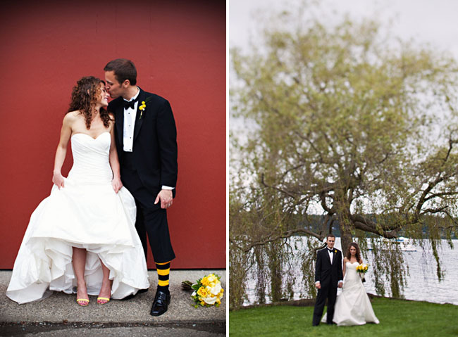 bumble bee wedding bride and groom