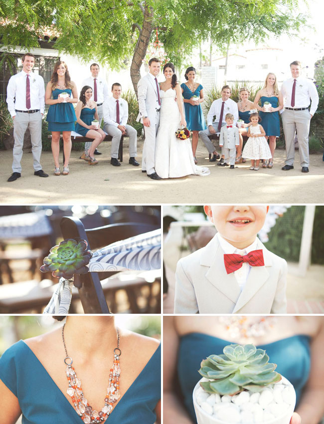 red bow tie on ring bearer