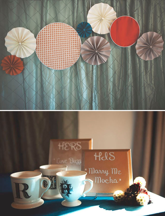 paper fan reception decor