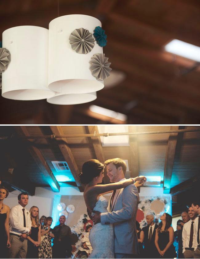 paper fan reception decor