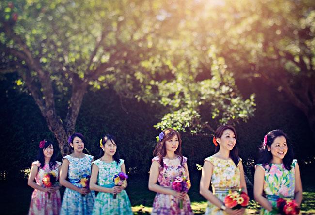 floral dress bridesmaids