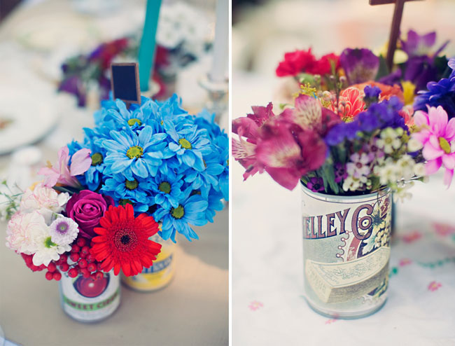 vintage can vases