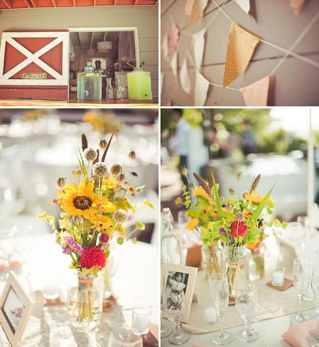 sunflower reception centerpieces