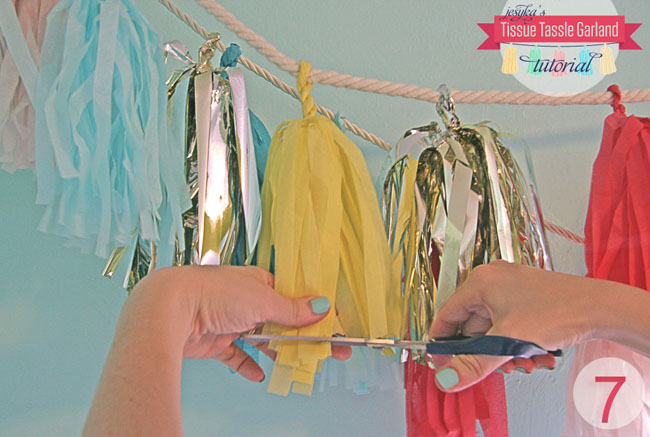 make your own tissue tassels