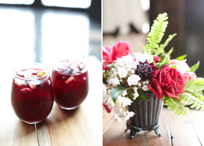 sangria and bouquet