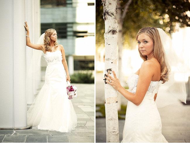 bride in city