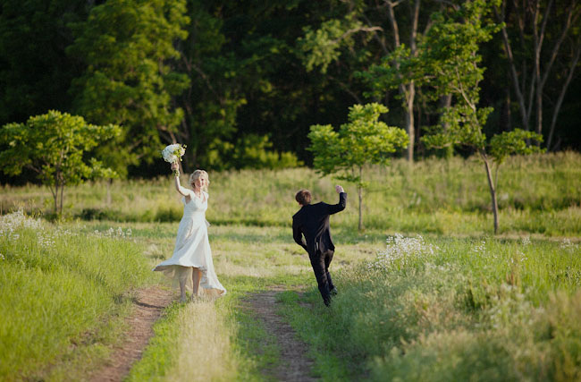celebrating after wedding