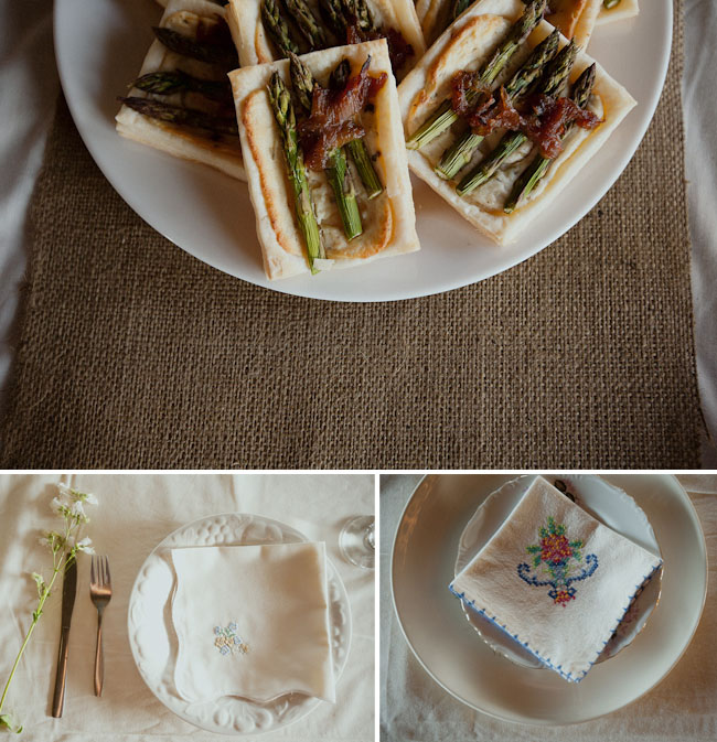 vintage napkins for wedding table