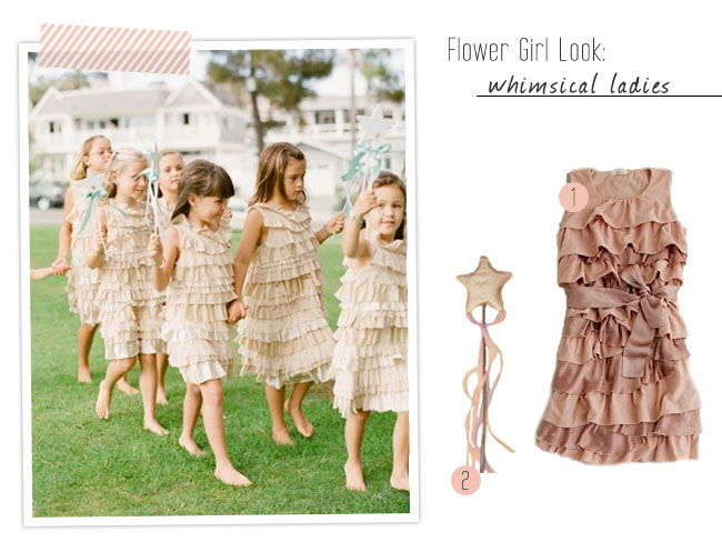whimsical flower girl fashion