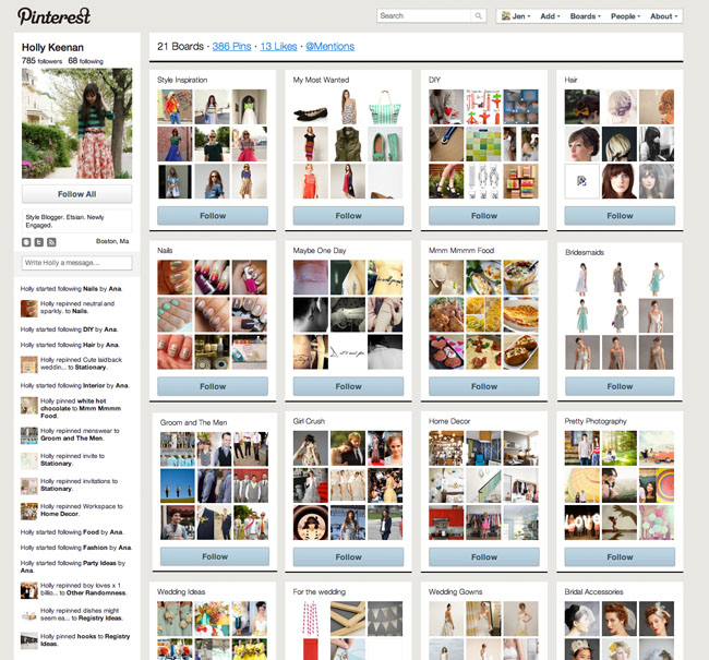 Pinterest A Perfect Online Place To Store All Your