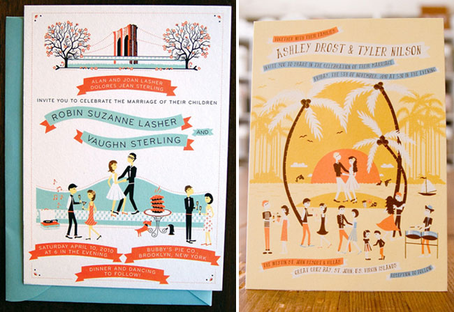 whimsical wedding invitations from anna hurley | green wedding, Wedding invitations