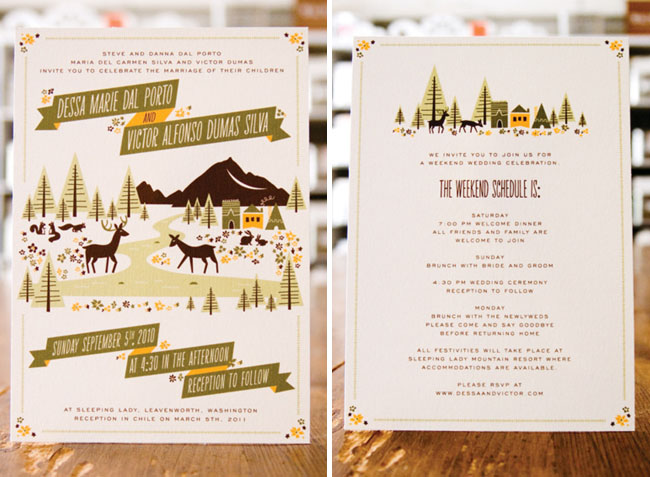 illustrated wedding invitations by anna hurley