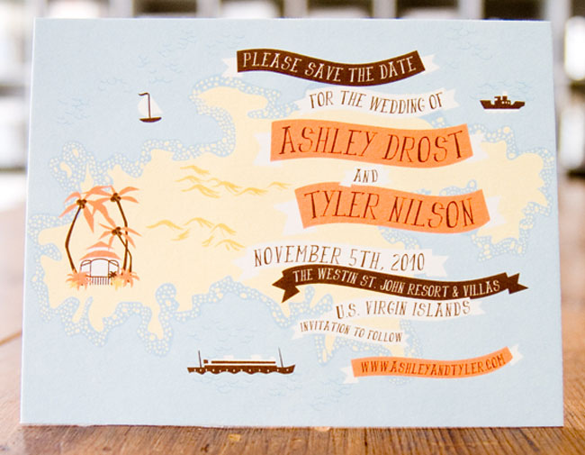illustrated wedding save the dates by anna hurley