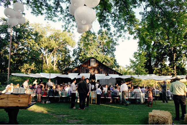 backyard farm reception