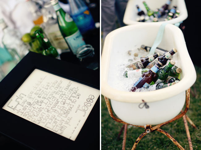 beer in ice tub reception