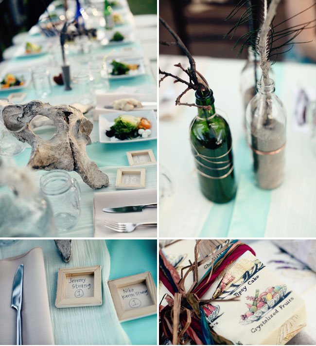 earthy reception centerpieces