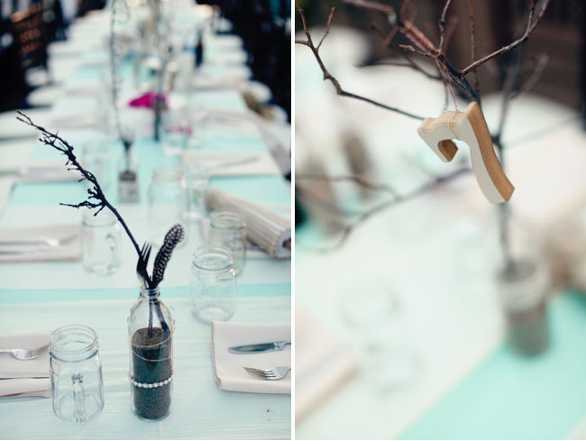 branches in bottles tablescape