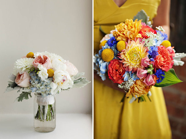 bright color bouquet