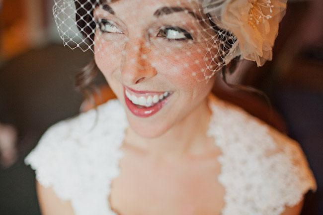bride birdcage veil