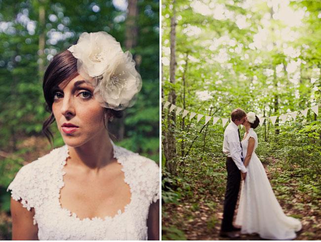 bride flower hairpiece