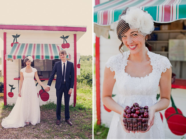 wedding cherry stand