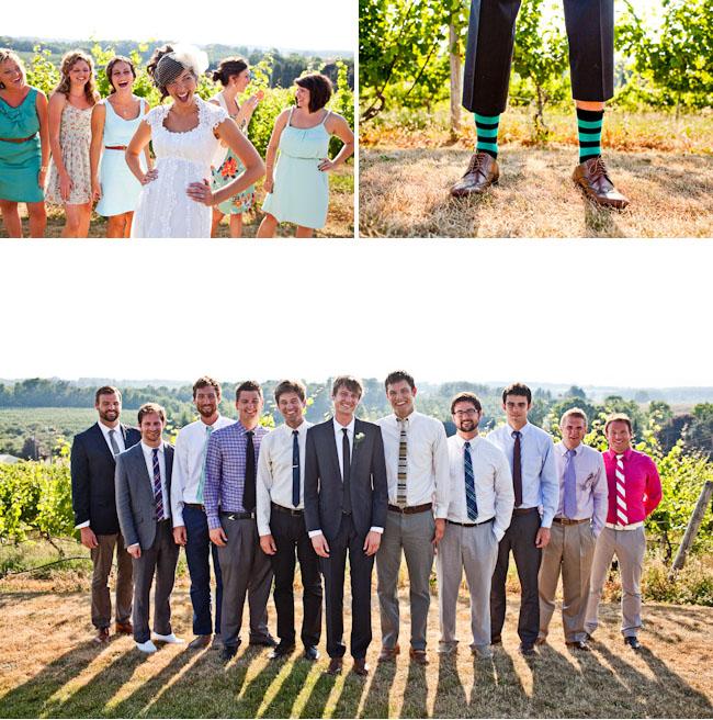striped socks groomsmen