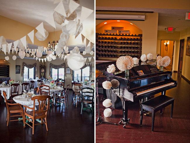 bunting reception decor