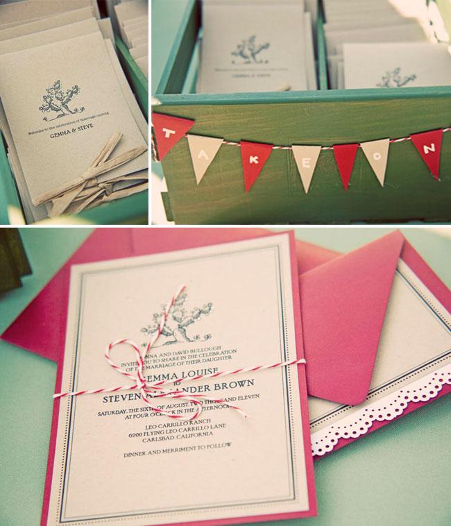 lace trim wedding invitations