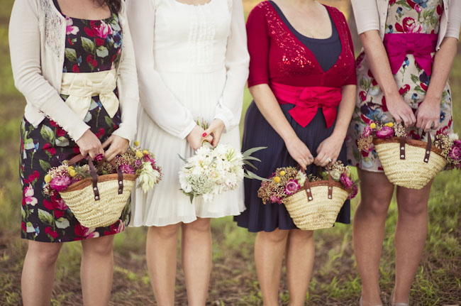 flower basket bridesmaids
