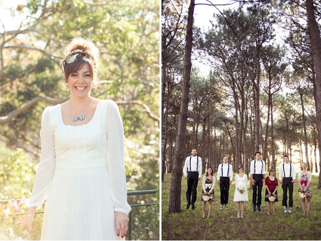 bride in long sleeved dress