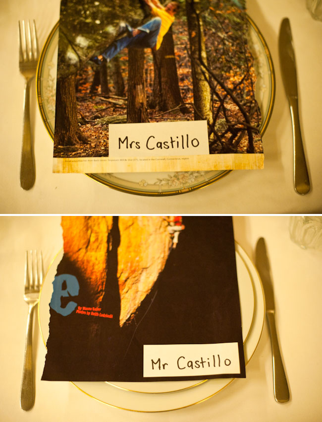 photo name cards for reception