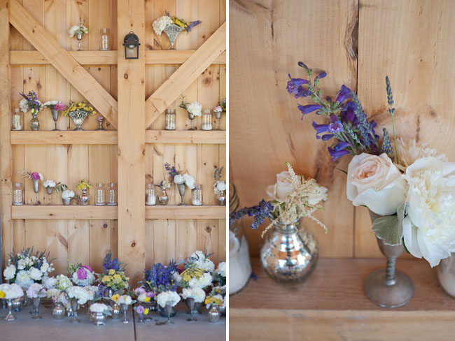 small flower arrangements in vases