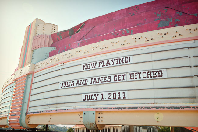 old theatre wedding marquee