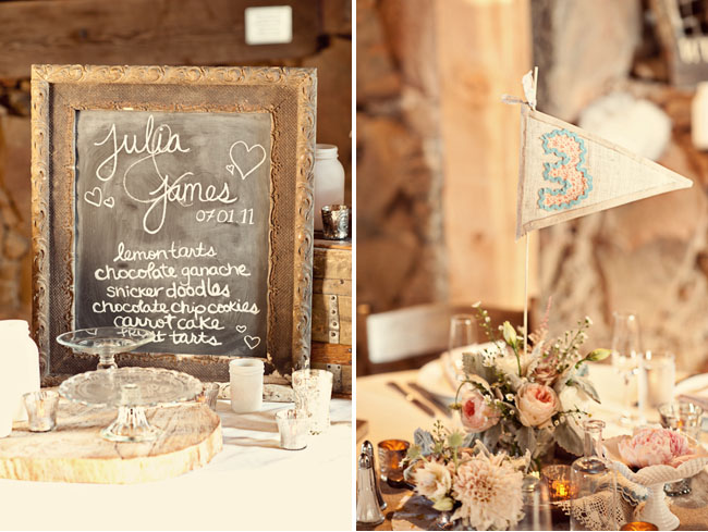 chalkboard reception sign