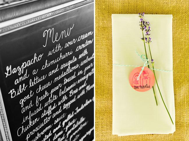 chalkboard reception menu