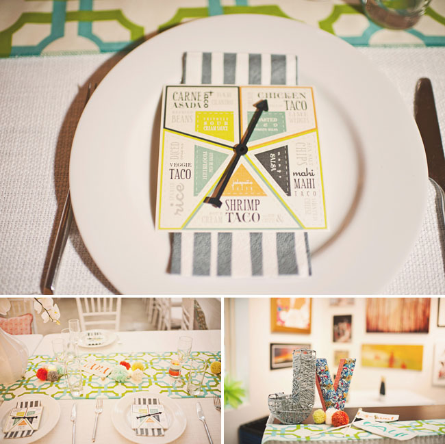 wedding menu with game card